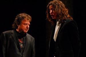 Enrique Morente padre e hijo durante un concierto en el palacio de Carlos V
